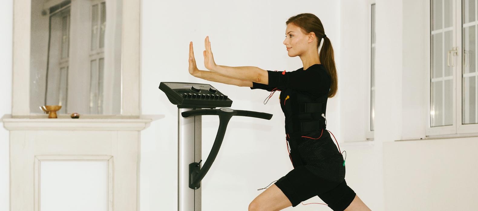 Elektrische-Muskel-Stimulation (EMS) Training und